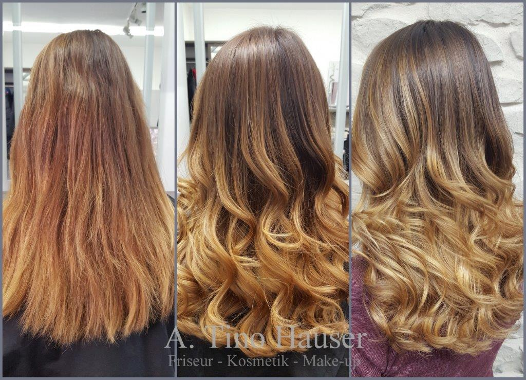 Friseursalon a tino hauser color specials for Balayage braun caramel