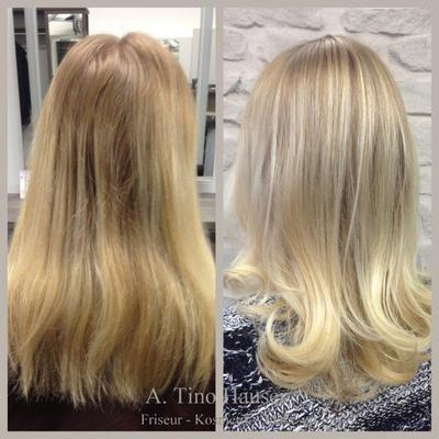 Ansatz Balayage blond Olaplex