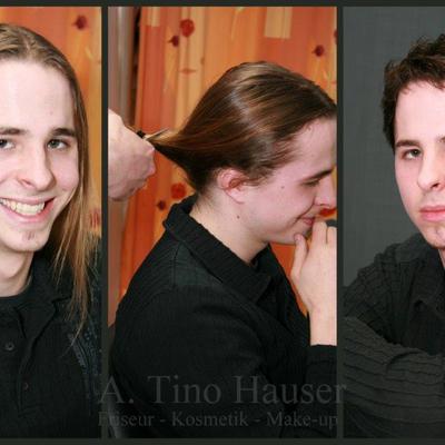Vorher / Nachher - Männer-Haarschnitt