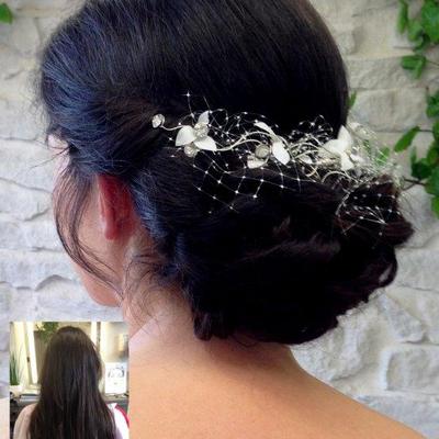 Brautfrisur-sehr-lange-Haare-Steckfrisur