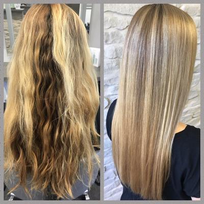 Balayage-blonde-straehnen-glossing